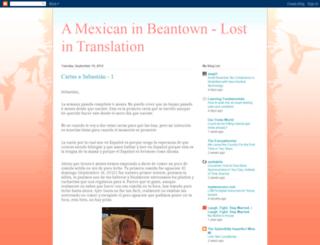 amexicaninbeantown.blogspot.com screenshot