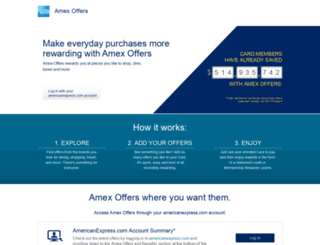 amexoffers.com screenshot