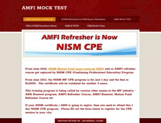 amfi-mock-test.weebly.com screenshot