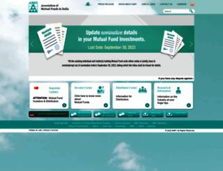 amfiindia.com screenshot