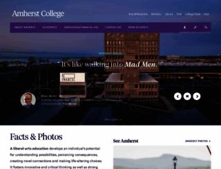 amherst.edu screenshot