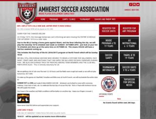 amherstsoccer.com screenshot