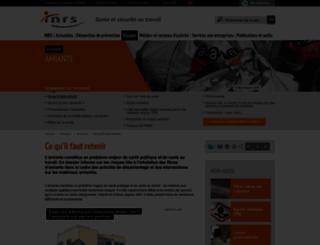 amiante.inrs.fr screenshot