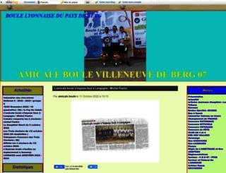 amicale-villeneuvoise.eklablog.com screenshot
