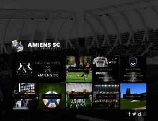amiensfootball.com screenshot