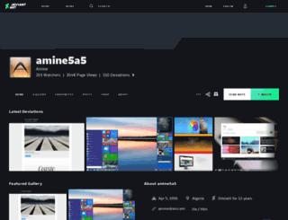 amine5a5.deviantart.com screenshot