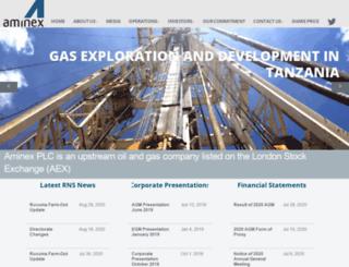 aminex-plc.com screenshot
