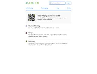 amion.com screenshot