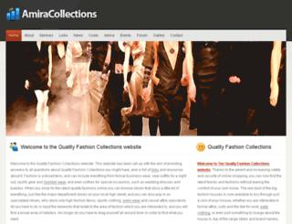 amiracollections.co.uk screenshot