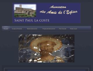 amis-eglise-saint-paul-la-coste.fr screenshot