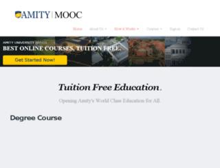 amityopenlearning.com screenshot