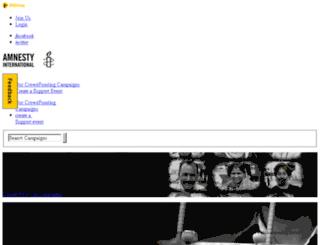 amnesty.bitgiving.com screenshot