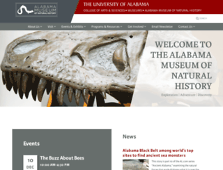 amnh.ua.edu screenshot