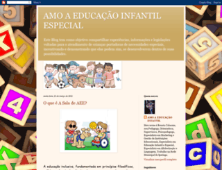 amoaeducacaoinfantilespecial.blogspot.com screenshot