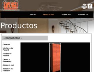 amoblamientospyb.com.ar screenshot