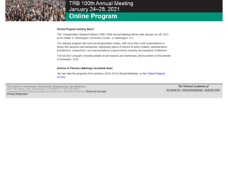 amonline.trb.org screenshot