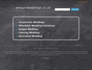 amour-weddings.co.uk screenshot