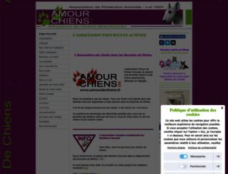 amourdechiens.jimdo.com screenshot