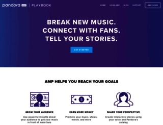 amp.pandora.com screenshot
