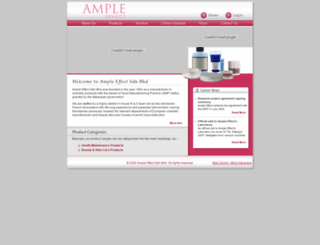 ampleeffect.com screenshot