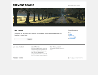 ampmtowingfremont.com screenshot