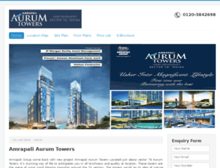 amrapaliaurumtowers.org.in screenshot