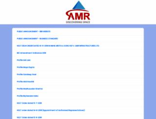 amrinfrastructures.com screenshot