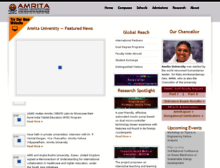 amritapuri.amrita.edu screenshot
