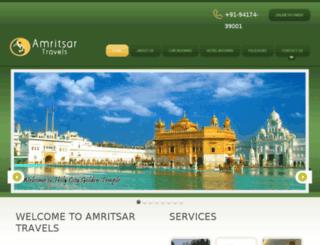 amritsartravels.co.in screenshot