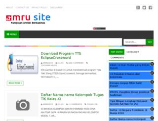 amrusujud.blogspot.com screenshot