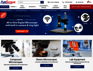 amscope.com screenshot