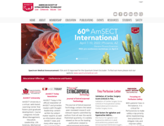 amsect.org screenshot