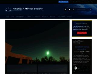 amsmeteors.org screenshot