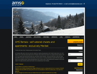amsrentals.com screenshot