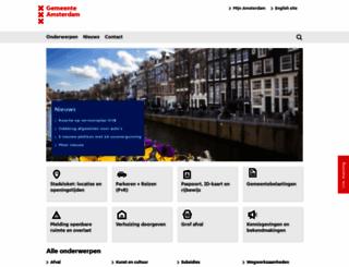 amsterdam.nl screenshot