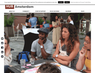 amsterdam.the-hub.net screenshot