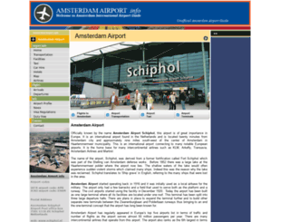 amsterdamairport.info screenshot