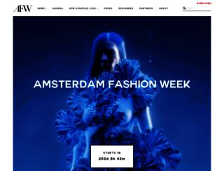 amsterdamfashionweek.com screenshot