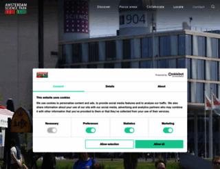amsterdamsciencepark.nl screenshot