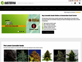 amsterdamseedcenter.com screenshot