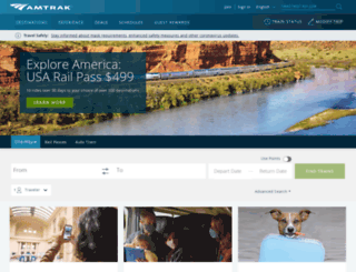amtrak.com screenshot