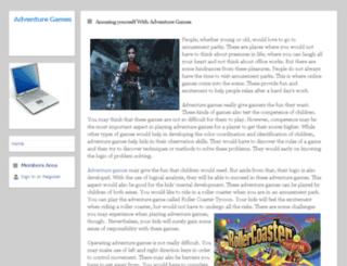 amusingadventuregames.webs.com screenshot