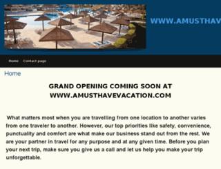 amusthavevacation.com screenshot