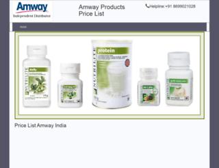 amwaypricelist.adbazzaar.com screenshot