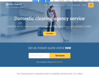 amycleaning.co.uk screenshot