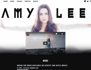 amyleeofficial.com screenshot