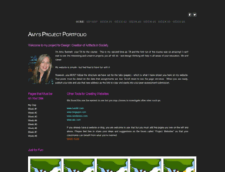 amysprojectportfolio.weebly.com screenshot