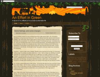 an-effort-in-green.blogspot.com screenshot