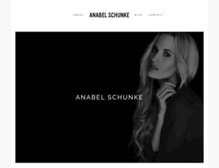 anabelschunke.com screenshot
