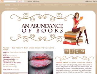 anabundanceofbooks.blogspot.com screenshot